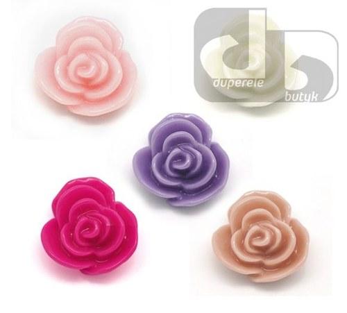 MIX květy 14 mm z pryskyřice 50 ks