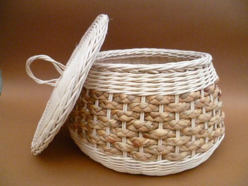 Košík  s pokličkou - hyacint