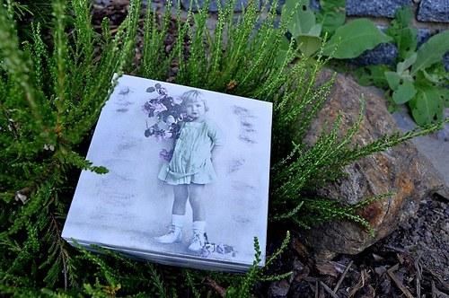 Krabička - holčička s růžemi