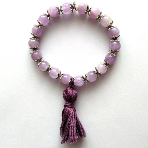 Náramek z přírodních kamenů Frozen Lavender