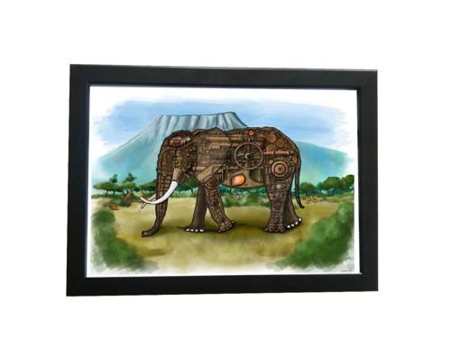 Obrázek v rámu - Sloní anatomie