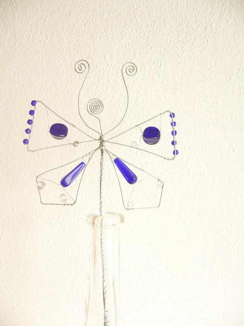 Motýl - drátovaný zápich