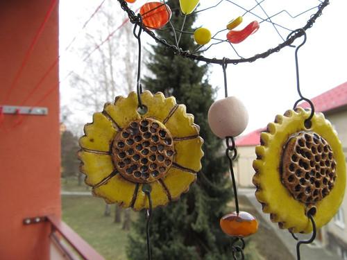 Drátěná dekorace, jarní