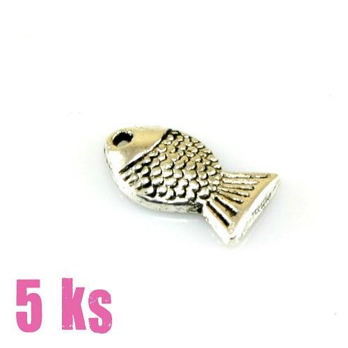Přívěsek - hejno rybiček, 5 ks
