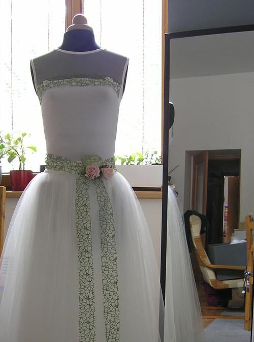 Ivory  svatební sukně  + body SPRING