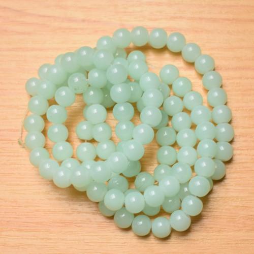 Skleněné korálky - imitace jadeitu - 8mm