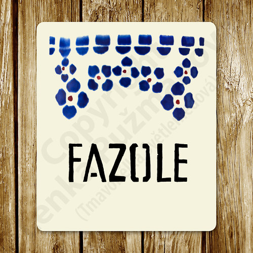 Fazole - samolepka na nádobu