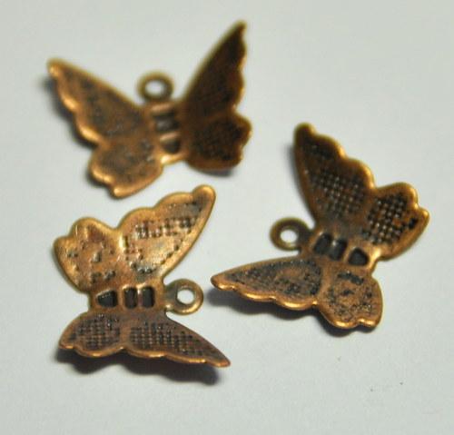 MED753 Měděný motýl 11x4 mm /3ks