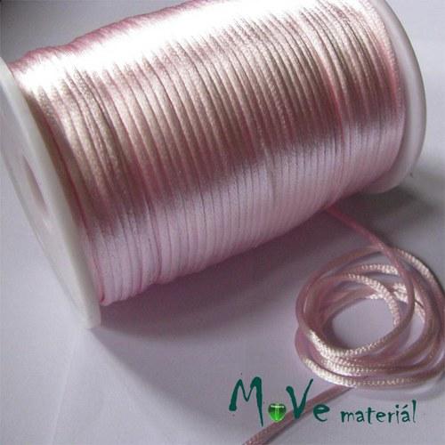Šňůra Ø2mm saténová, růžová světle, 1m