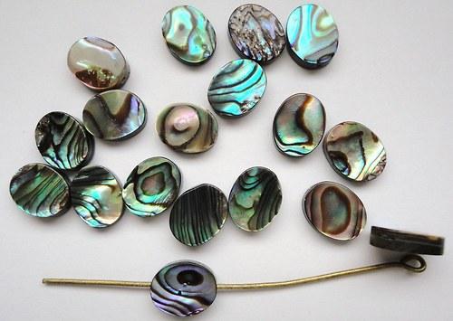 Novozélandská perleť paua - oválek