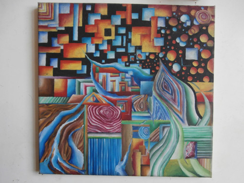 olej na plátně s rámem