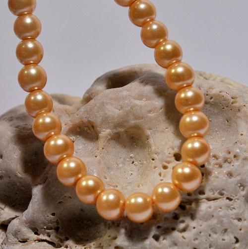 42. Voskové perle 6 mm/20ks/ gold
