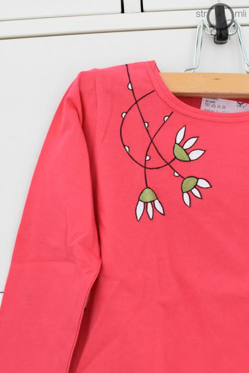 Ručně malované triko růžové DR 4-5 let SLEVA