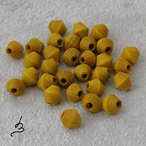 Dřevěné žluté 6/6 mm - bal. 30 ks