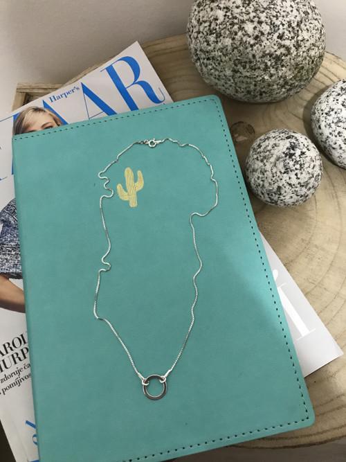 Stříbrný karma náhrdelník s kolečkem
