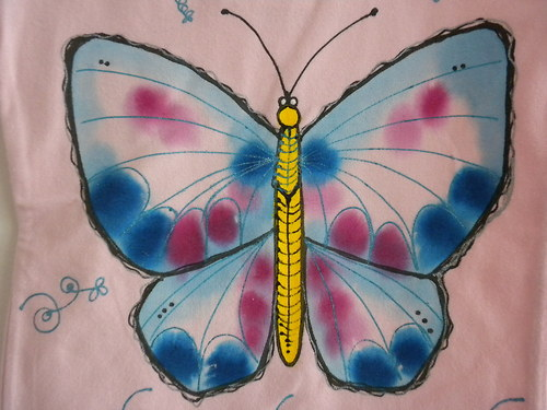 Tričko Modrý motýlek