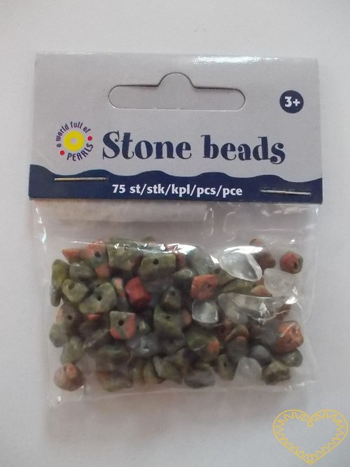 Kamenné korálky - 75 ks