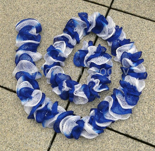 volánová šálka - bílo-modrá
