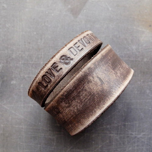 Vintage spojka (náramek s vlastním textem) š=4cm