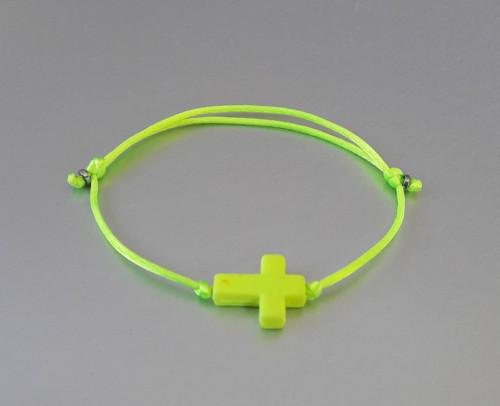 Náramek / Křížek / Neon žlutý /