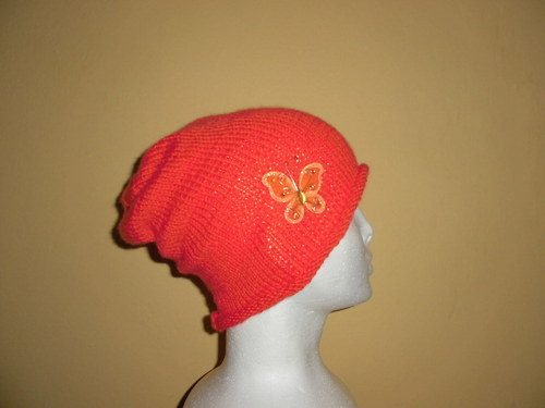 Čepice Rolka motýlek-oranžová