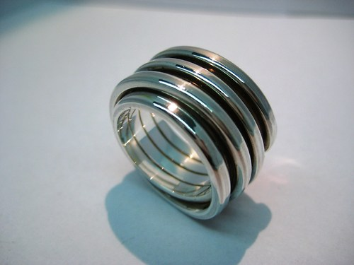 """stříbrný prsten \""""Motanice\"""""""