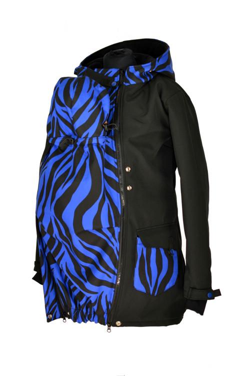 Soft.kabát nosící,zimní-modrá zebra