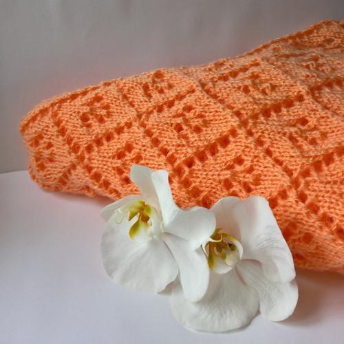 Meruňkové zachumlání - mohérový šátek