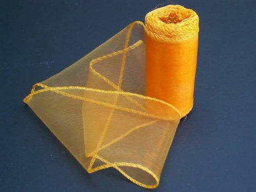 organza oranžová, š=10 cm