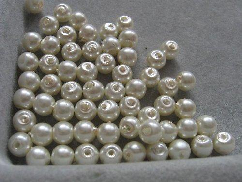Vosková perla - smetanová 5 mm / 20 ks