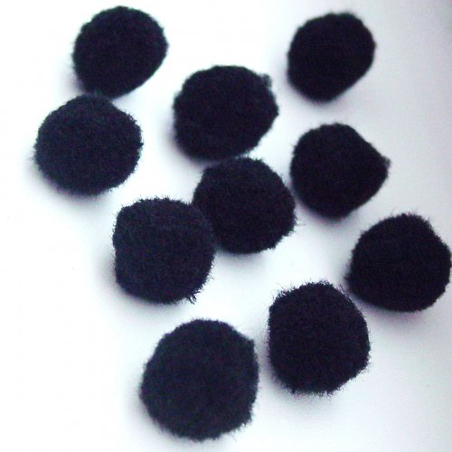 Bambulky černé  (2 cm) - 10 ks