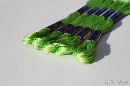 Vyšívací příze Mouline - zelená hrušková - za 2 ks