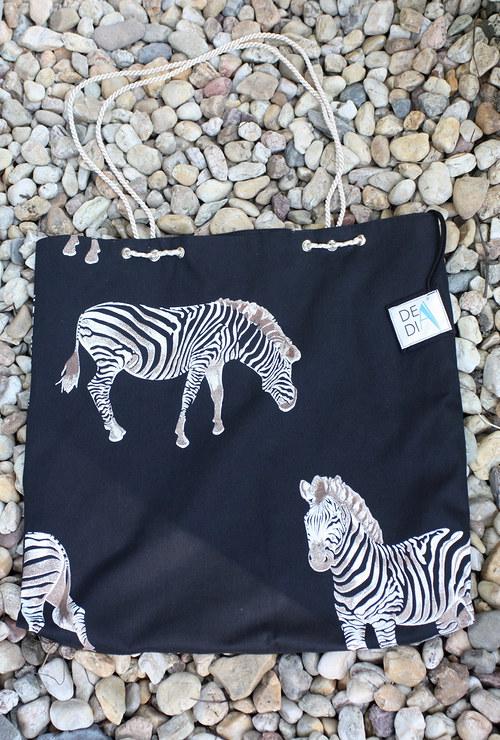 DeaDia taška Zebra cream