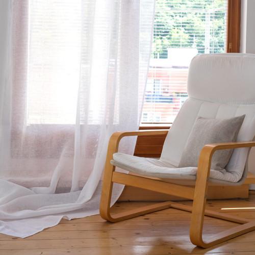 Záclony bílé ze lnu