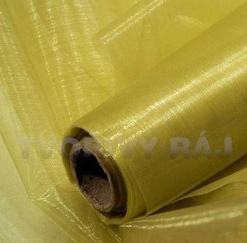 Organza šíře 37 cm, žlutozlatá - 1metr