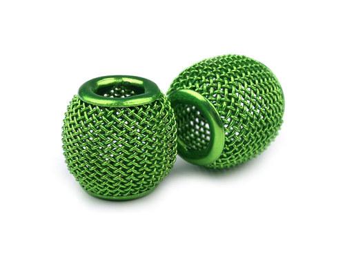 9001088/Drátkovaný korálek zelený II., 1 ks