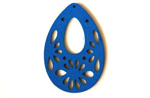 Dřevěné kapky- světle modré