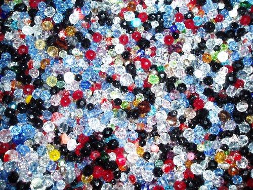 Skleněné korálky - broušenice - MIX BAREV