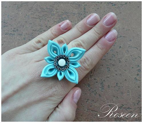 Kanzashi prstýnek Oki