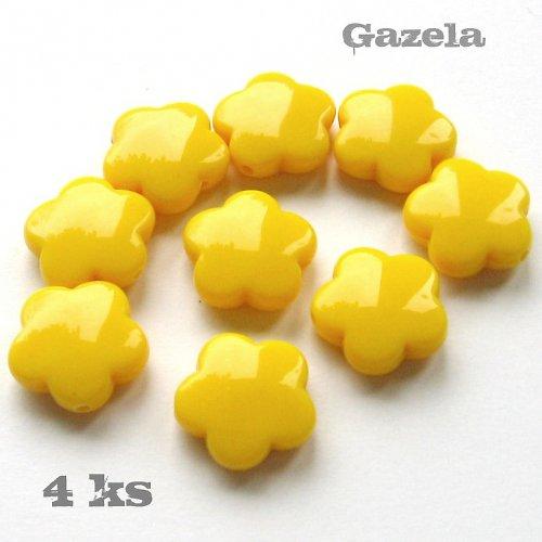 Kytičky žluté - 4 ks