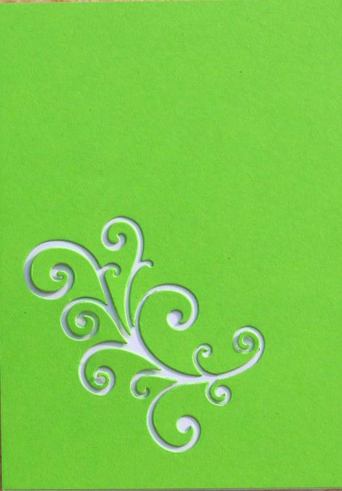 Stránka s ornamentem - barva podle přání