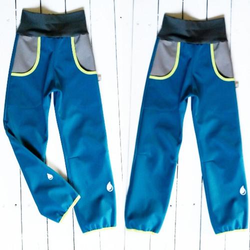 Softshellové kalhoty vel.110 4-5 let prodloužené