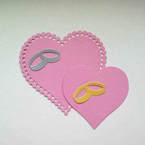 Výsek - Srdce krajkové  4ks