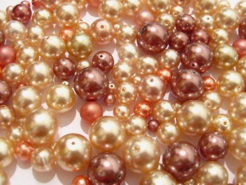 1404059/Mix starorůžové voskové perle, 50g