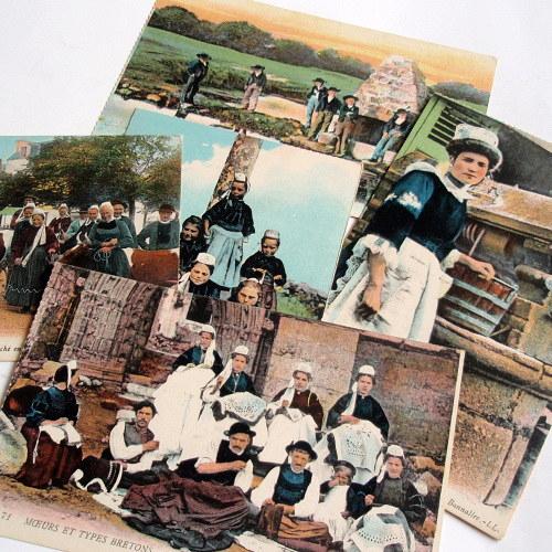 BRETAŇ - 5 x pohlednice č. 1489