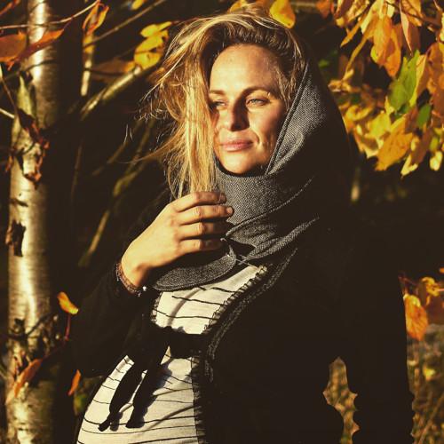 Elegantně na podzim - oboustranný kapucošál