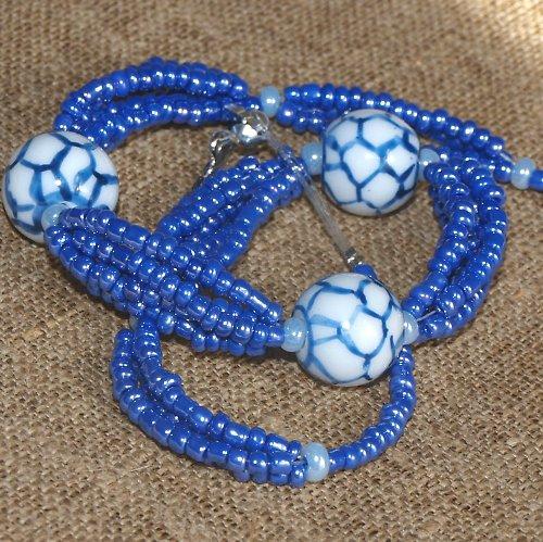 Porcelánová trojka - náhrdelník