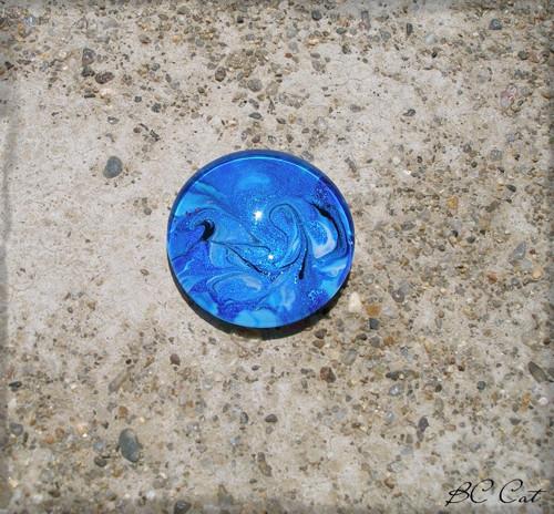 Skleněný kabošon: Kutalý: 25 mm