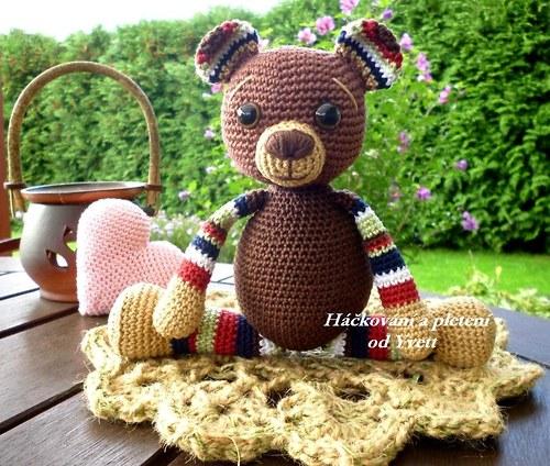 Háčkovaný medvídek - návod