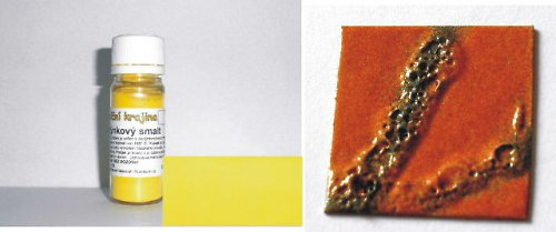 PTS05 - Plotýnkový smalt ŽLUTÁ cca 10g